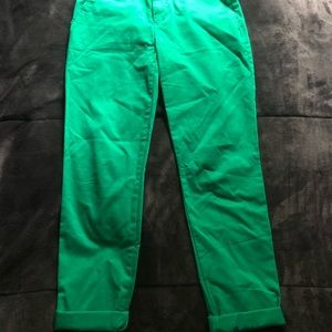 Green Gap Khakis Size 00
